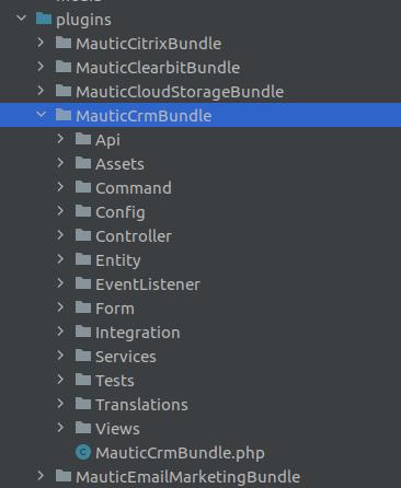 Mautic plugin directory example