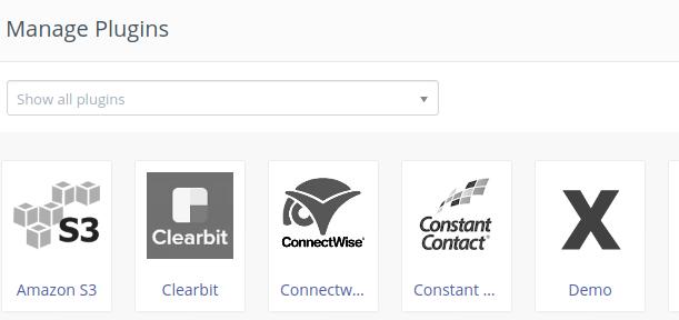 Manage Plugins Mautic changed icon