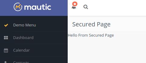 mautic plugin page secured
