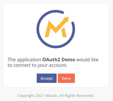 mautic oauth 2 grant screen