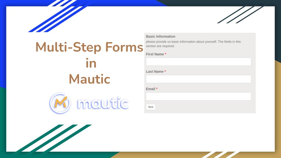 mautic multi step forms